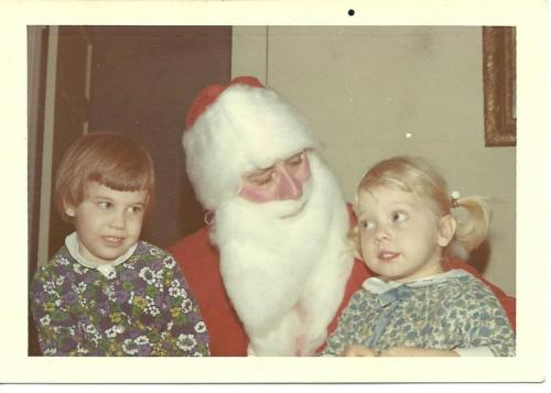 Jodie and me talking to Santa. Jode's not too sure about this guy....I'm probably being really specific about what I want.