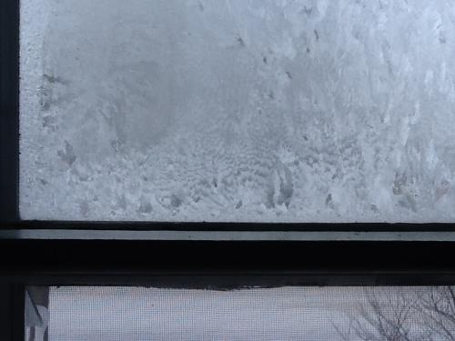 Frost in my bedroom window