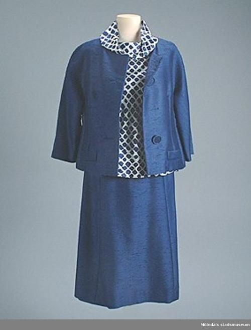 Shantung skirt and jacket